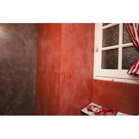 Stuc d'argile- Rouge Marrakech / Gris ardoise
