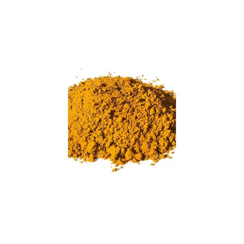 Pigment naturel minéral Ocre jaune de Puisaye