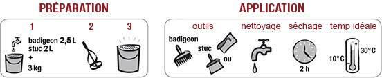 Badistuc: préparation et finition